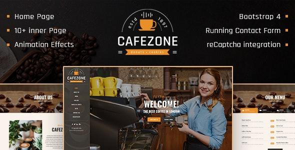 CafeZone: Coffee Shop Restaurant HTML Restaurant Template - Food Retail
