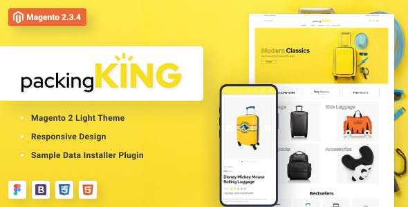 PackingKing - Travel Bags Store Magento Theme