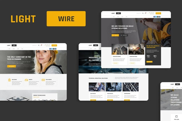 Lightwire - Construction And Industry Kit - Real Estate & Construction Elementor