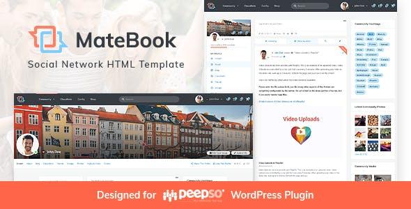 MateBook - Social Network HTML Template