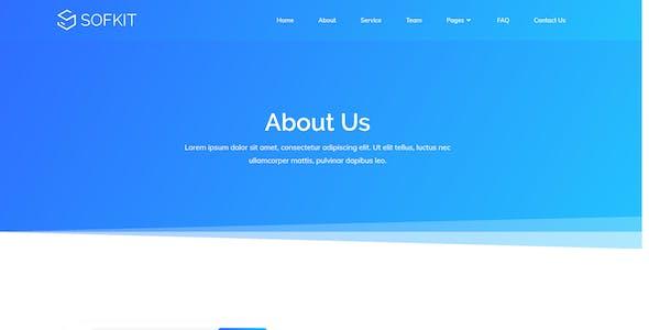 Sofkit - Tech Startup Template Kit