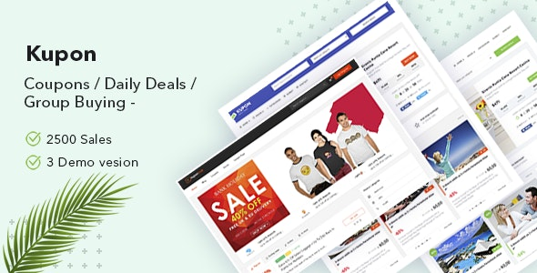 KUPON - Coupons / Daily Deals / Group Buying - Marketplace WordPress Theme - Directory & Listings Corporate