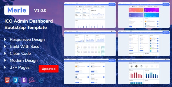 Merle - ICO Admin Dashboard Bootstrap Template - Admin Templates Site Templates