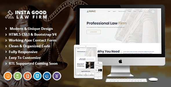 Insta Good - Law and Lawyer HTML Template - Corporate Site Templates