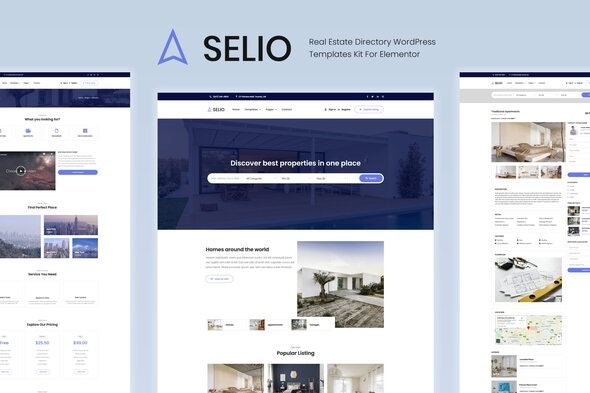 Selio - Real Estate Directory Template Kit - Real Estate & Construction Elementor