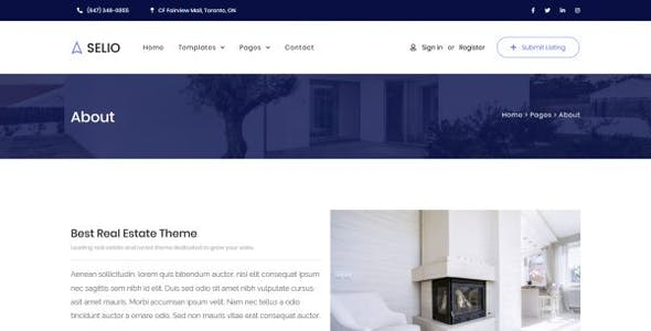 Selio - Real Estate Directory Template Kit