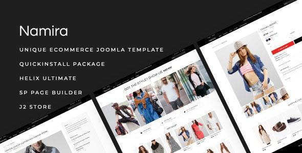 Namira - Unique eCommerce J2Store Joomla Template - Shopping Retail