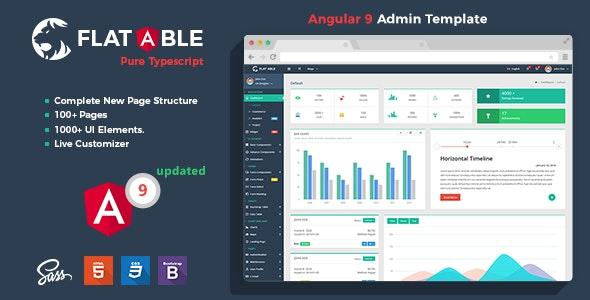 Flat Able - Angular 9 Admin Template - Admin Templates Site Templates