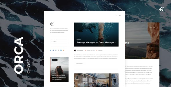 Orca - Responsive Ghost Theme