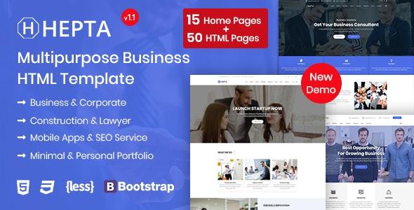 Hepta - Multipurpose Business HTML Template - Business Corporate
