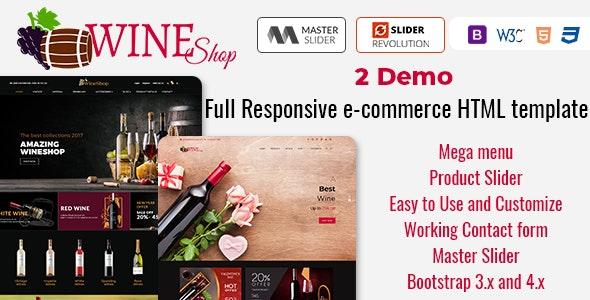 WineShop - Multi-Purpose eCommerce HTML Template - Retail Site Templates