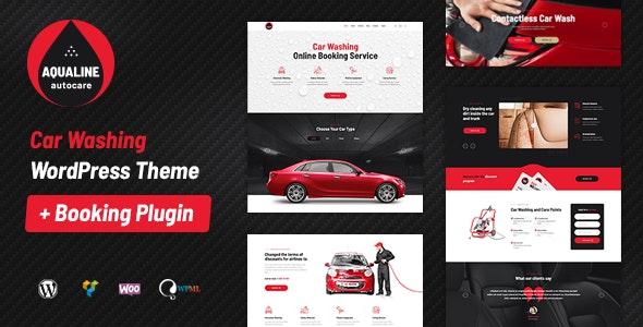 Aqualine - Car Washing Service with Booking System WordPress Theme - Corporate WordPress