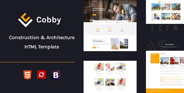 Cobby - Construction & Building HTML5 Template - Corporate Site Templates