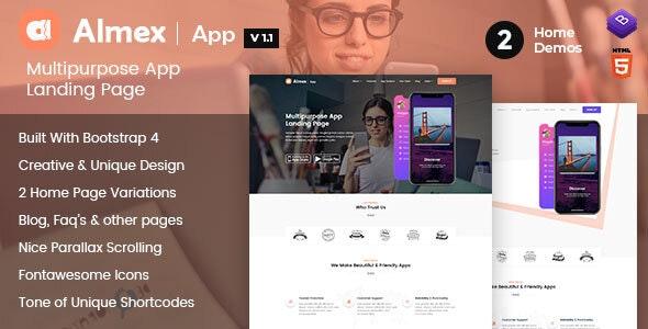 Almex : Single Page Landing Template - Business Corporate