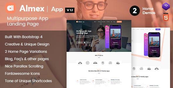 Almex : Single Page Landing Template