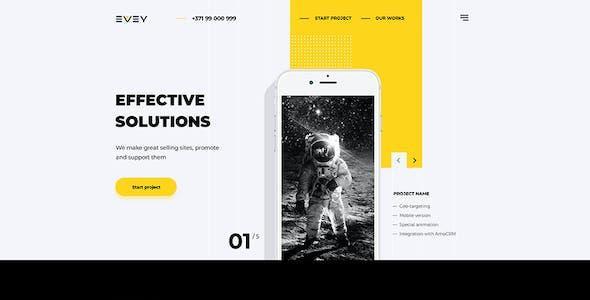 Evey — Portfolio Creative Agency  PSD Template