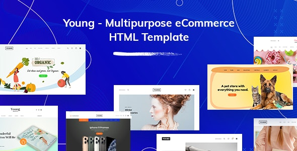 Young - Multipurpose eCommerce HTML Template - Shopping Retail