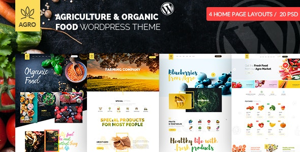 Agro - Organic Farm Agriculture WordPress Theme - Food Retail