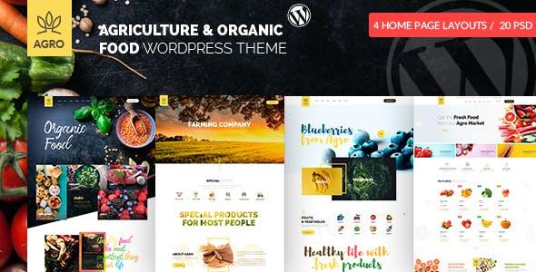 Agro - Organic Farm Agriculture WordPress Theme