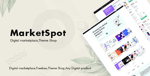 Marketspot - Digital Marketplace Template for Creative Shops by codenpixel