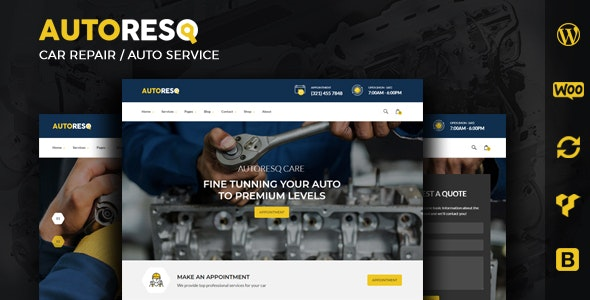 Autoresq - Car Repair WordPress Theme - Business Corporate