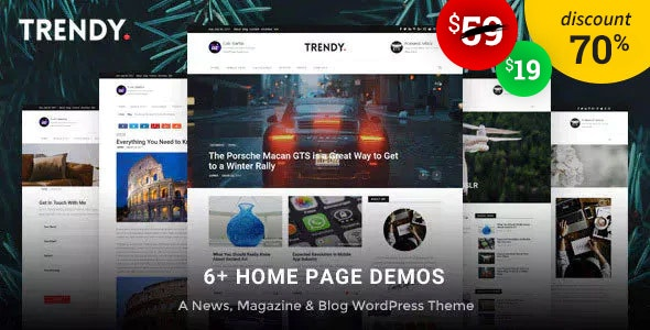 Trendy Pro - A WordPress Blog News Magazine Theme - Personal Blog / Magazine
