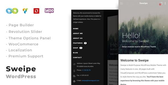 Sweipe - Responsive WordPress Mobile Theme - Mobile WordPress