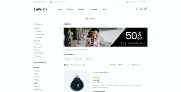 LaFash - Multipurpose OpenCart 3.x Theme