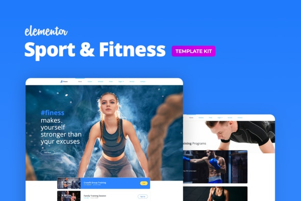 Finess – Fitness Template Kit for Elementor - Sport & Fitness Elementor