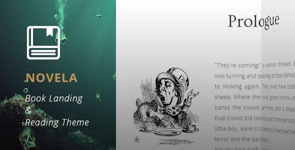 Novela - Book Landing & Reading Theme - Marketing Corporate