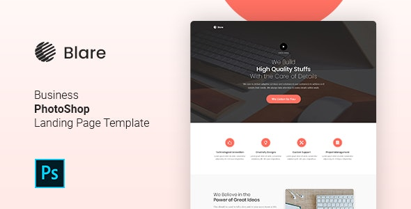 Blare - PSD Business Landing Page Template - Marketing Corporate