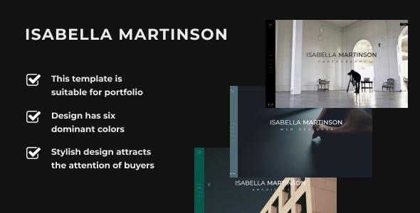Isabella Martinson -  Portfolio Template