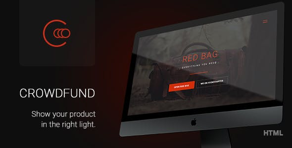 Crowdfund - Marketing Template for Startups
