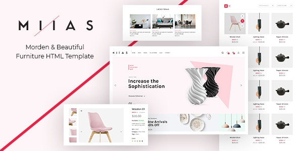MIIAS - Furniture Bootstrap 4 Reaponsive HTML5 Template - Shopping Retail