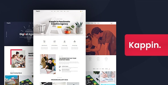 Kappin - Modern Agency and Portfolio WordPress Theme - Business Corporate