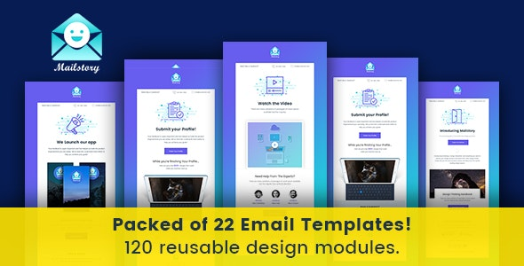 Mailstory - Notification Email - Templates - Builder - Newsletters Email Templates