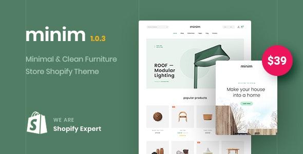 Minim – Minimal & Clean Furniture Store Shopify Theme (Mobile Friendly) - Shopify eCommerce