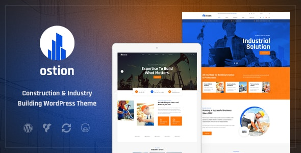 Ostion - Construction & Industry Building Company WordPress Theme - Business Corporate