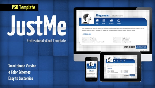 JustMe Professional vCard - Virtual Business Card Personal