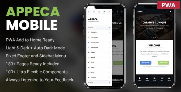 Appeca Ultimate Mobile Template - Mobile Site Templates