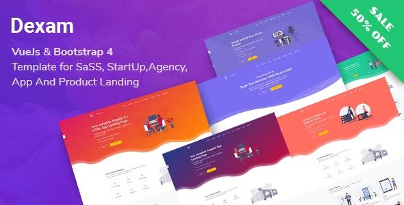 Dexam Vuejs Html SaaS Startup Product Landing Page
