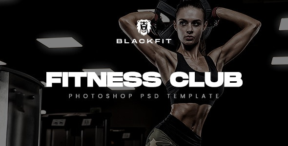 BLACKFIT - Fitness & GYM Template - Health & Beauty Retail