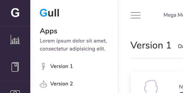 Gull - React Redux & HTML Admin Dashboard Template
