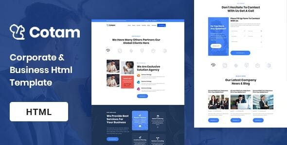 Cotam - Modern Business HTML5 Template - Business Corporate