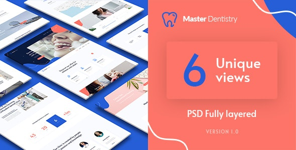 Master Dentist - Creative Dentistry PSD Template - Health & Beauty Retail