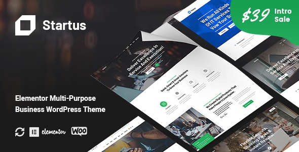 Startus Theme Preview