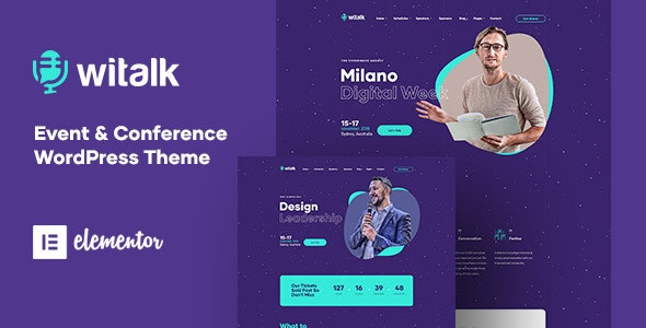 WiTalk - Event & Conference WordPress Theme - Events Entertainment