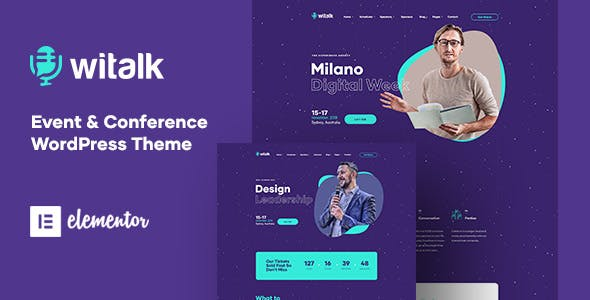 Download WiTalk - Event & Conference WordPress Theme