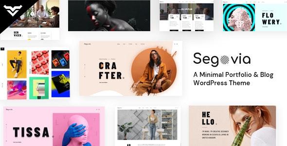 Segovia - A Minimal Portfolio And Blog WordPress Theme - Portfolio Creative