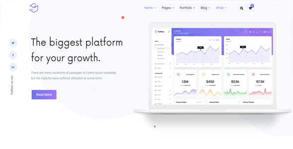 Sofbox - Tech & SaaS Multipurpose Software Landing Page